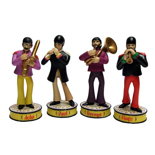 Beatles Yellow Submarine Sgt. Pepper Bobble Statue Set