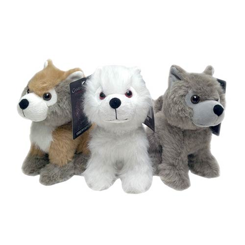 Game of Thrones Direwolf Cub Plush Set