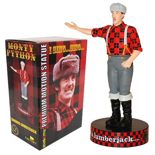 Monty Python Lumberjack Deluxe Talking Bobble Head