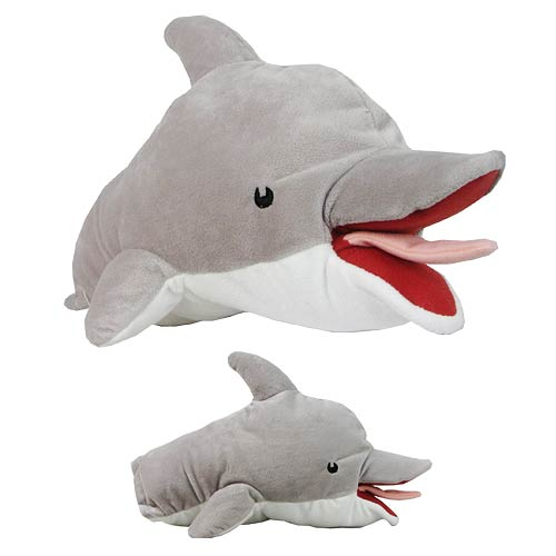 Archer Pam's Dolphin 12-Inch Plush Puppet
