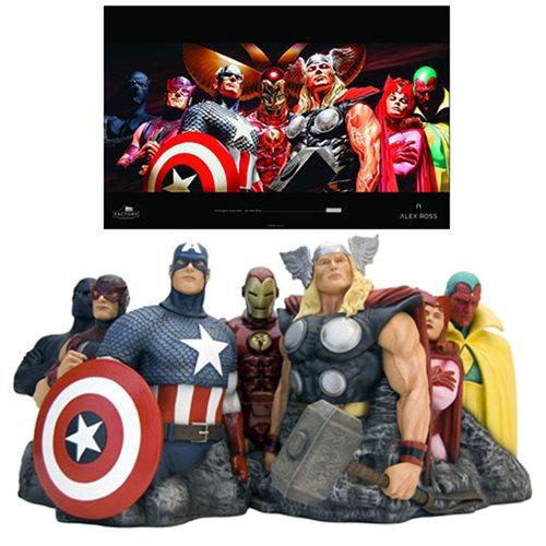 The Avengers - Assemble by Alex Ross Fine Art Sculpture