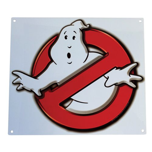 Ghostbusters No Ghosts Logo Metal Sign
