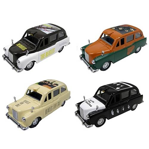 Beatles Die-Cast Taxi Famous Covers Wave 2 Case