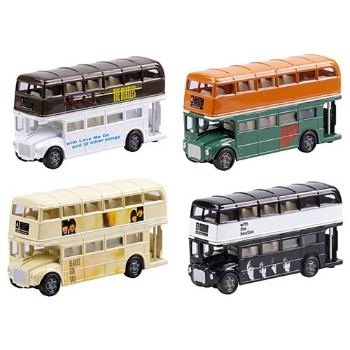 Beatles Die-Cast Bus Famous Covers Wave 2 Case