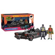 Batman 1966 Batman and Robin Figures with Batmobile Vehicle