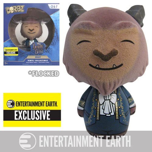 Beauty and the Beast Live Beast Flocked Dorbz - EE Excl.