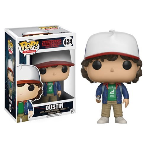 stranger things dustin with compass pop vinyl figure. Black Bedroom Furniture Sets. Home Design Ideas