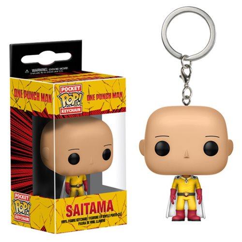 One Punch Man Saitama Pocket Pop! Key Chain, Not Mint