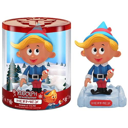 Rudolph the Red-Nosed Reindeer Hermey the Elf Bobble Head - Funko ...