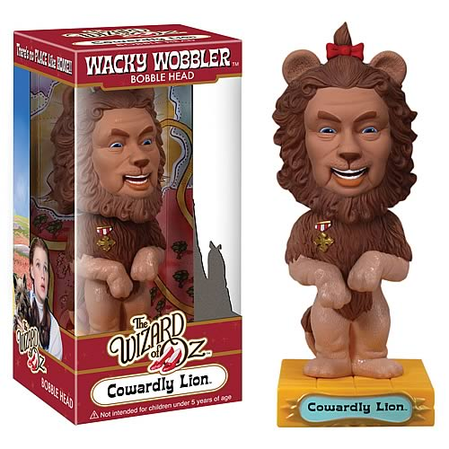 Wizard of Oz Cowardly Lion Bobble Head, Not Mint