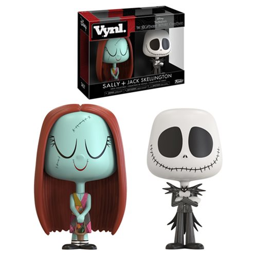 The Nightmare Before Christmas Jack and Sally Vynl. 2-Pack
