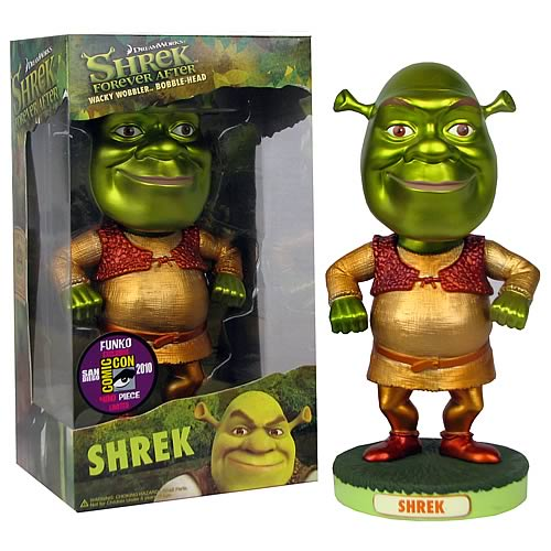 SDCC Exclusive Metallic Shrek Bobble Head