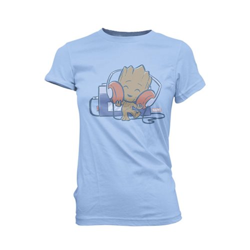 Guardians of the Galaxy Groot with Tape Deck Juniors T-Shirt