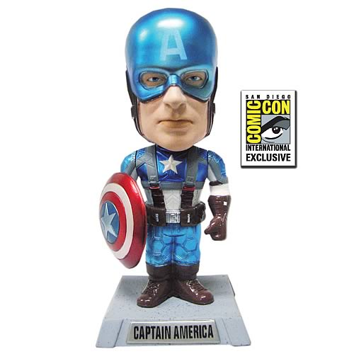 SDCC Exclusive Captain America Movie Metallic Bobble Head
