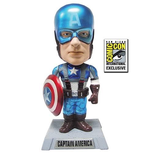 SDCC Exclusive Captain America Movie Metallic Bobble Head