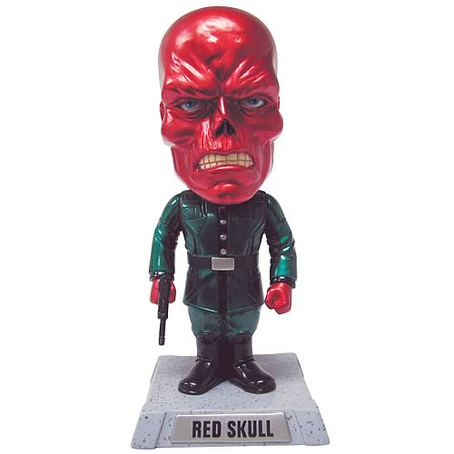 SDCC Captain America Movie Red Skull Metallic Bobble Head