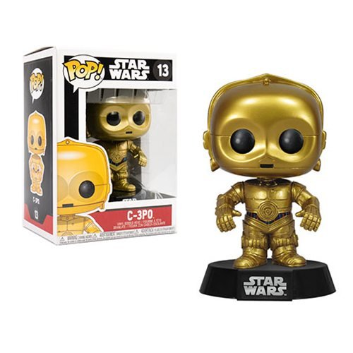 star wars c 3po pop vinyl bobble head funko star wars pop vinyl figures at entertainment. Black Bedroom Furniture Sets. Home Design Ideas