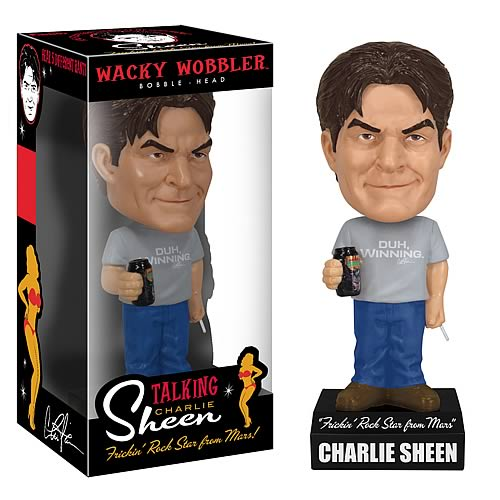 Charlie Sheen Talking Wacky Wobbler Bobble Head