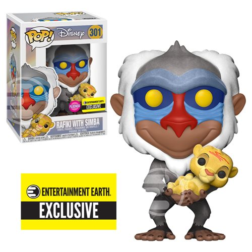 Lion King Rafiki with Simba Flocked Pop! Figure - EE Excl.