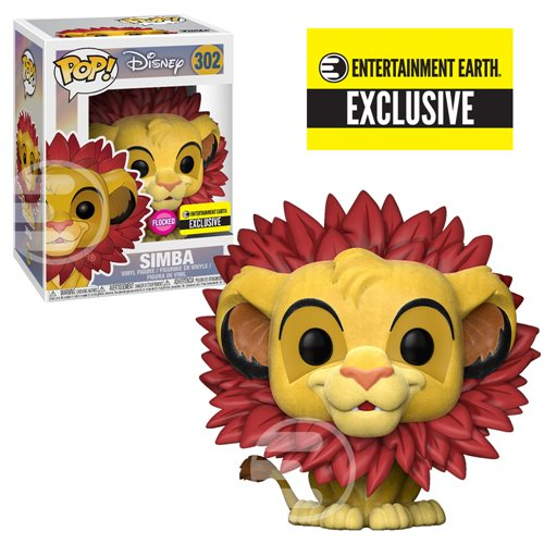 Lion King Simba Leaf Mane Flocked Pop! Figure - EE Excl.