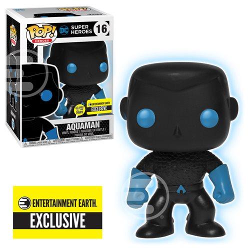 Justice League Aquaman Silhouette GITD Pop! Figure - EE Excl