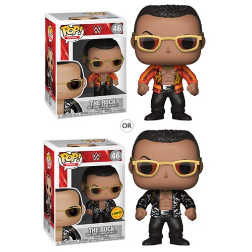 Wwe The Rock Old School Pop Vinyl Figure 46 Funko
