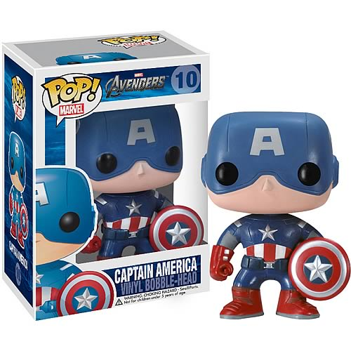 Avengers Movie Captain America Pop! Vinyl Bobble Head