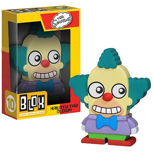 Simpsons Krusty the Clown Blox Vinyl Figure