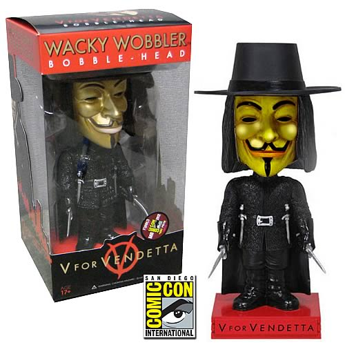 V for Vendetta SDCC 2012 Exclusive Metallic Bobble Head