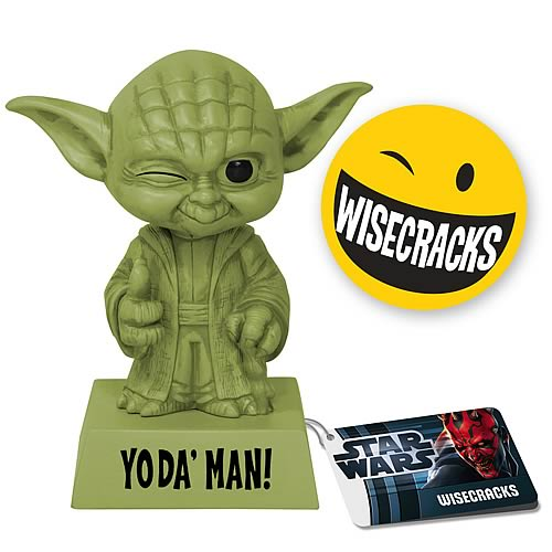 Star Wars Wacky Wisecracks Yoda Man Figure