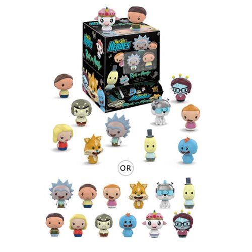 Rick and Morty Pint Size Heroes Mini-Figure Display Case