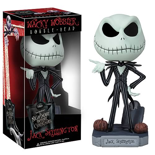 Nightmare Before Christmas Jack Skellington Bobble, Not Mint