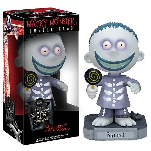 Nightmare Before Christmas Barrel Bobble Head