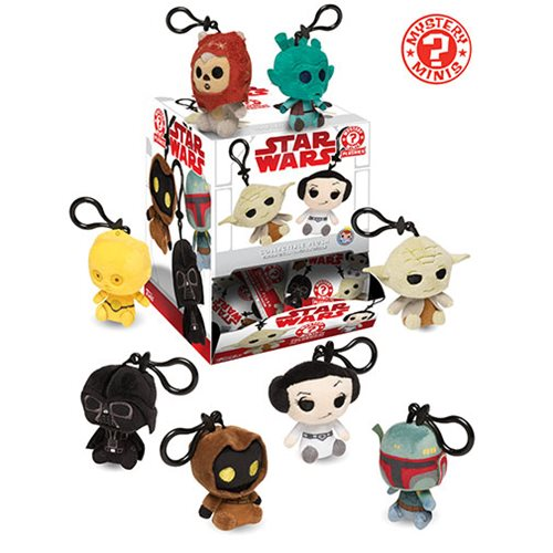 Star Wars Classic Mystery Mini Plush Key Chain Random 6-Pack