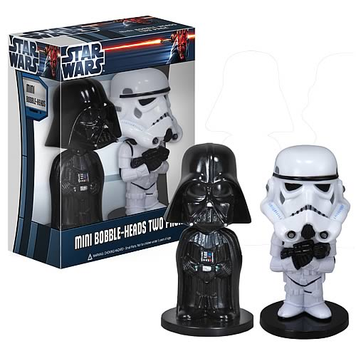 Star Wars Darth Vader and Stormtrooper Mini Bobble Heads