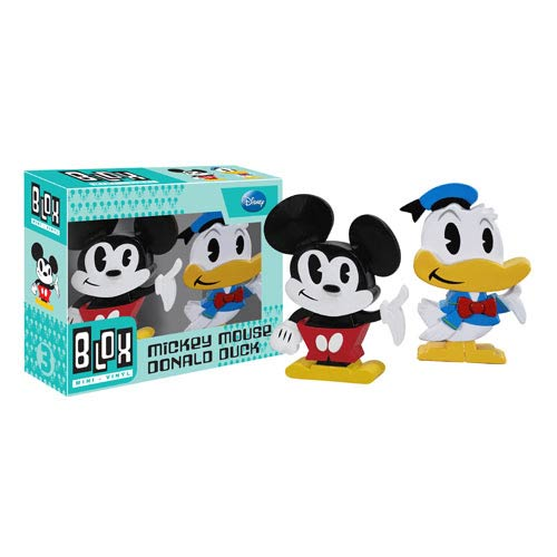 Mickey Mouse and Donald Duck Mini-Blox Vinyl Figure 2-Pack