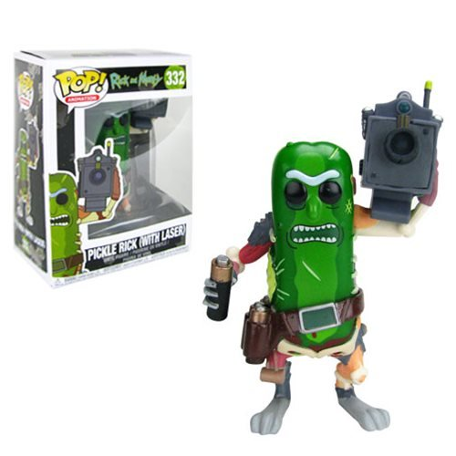 Rick and Morty Pickle Rick with Laser Pop! Figure, Not Mint