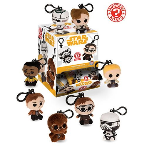 Star Wars Solo Mystery Minis Plush Key Chain Display Case