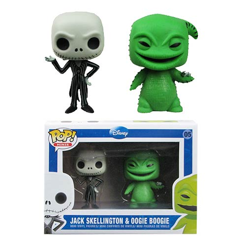NBX Jack Skellington and Oogie Boogie Mini Pop! Vinyl Set