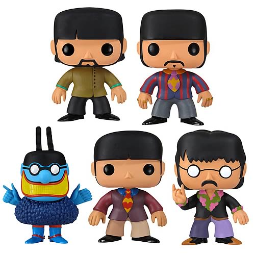 Beatles Yellow Submarine Pop! Rocks Vinyl Figure Set