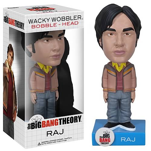 Big Bang Theory Raj Bobble Head, Not Mint