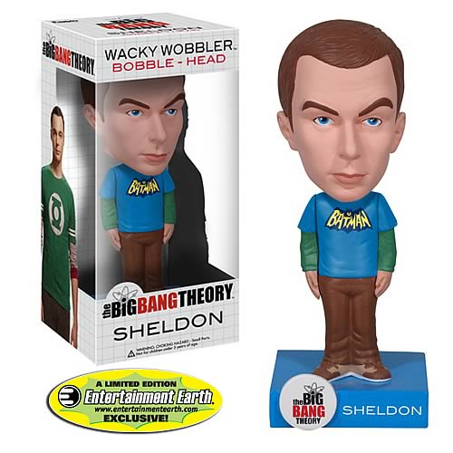 Exclusive Big Bang Theory Batman Sheldon Cooper Bobble Head