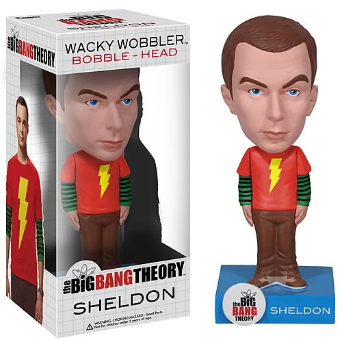 Exclusive Big Bang Theory Sheldon Shazam! Shirt Bobble Head