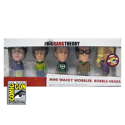 Big Bang Theory SDCC 2012 Mini Bobble Head Box Set