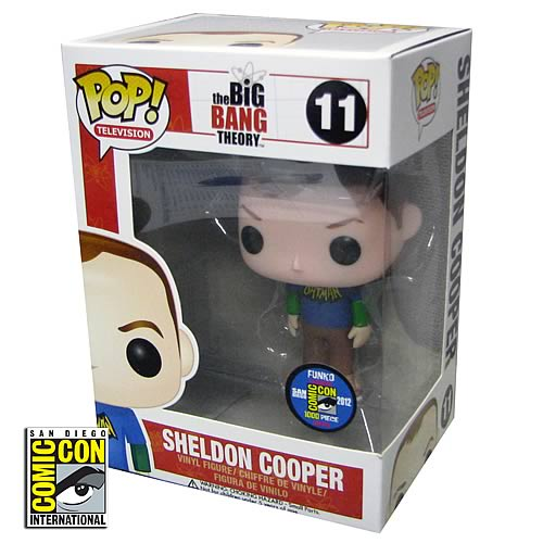Big Bang Theory Sheldon Batman Logo Pop! Vinyl Figure