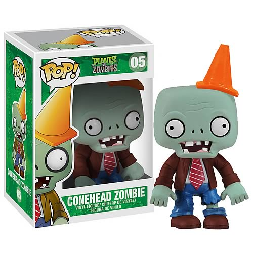 Plants vs. Zombies Conehead Pop! Vinyl Figure, Not Mint