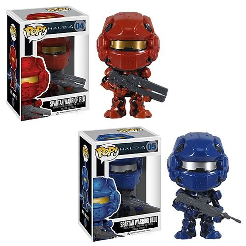 Halo 4 Red and Blue Spartan Warrior Pop! Vinyl Set