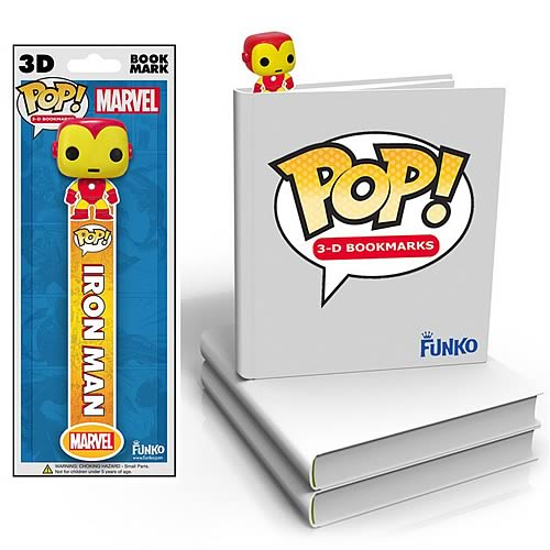 Iron Man Mini-Pop! 3-D Bookmark