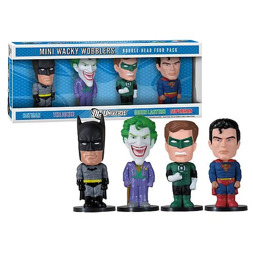 DC Comics Mini Bobble Head 4-Pack