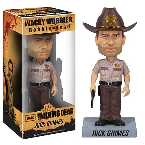 The Walking Dead Rick Grimes Bobble Head, Not Mint